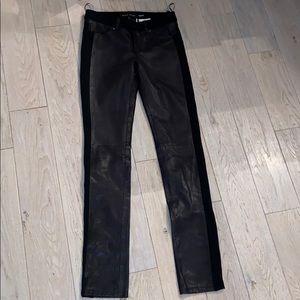 Black Rivet Leather Pants